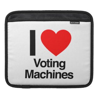 i love voting machines sleeve for iPads