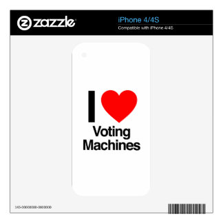 i love voting machines decals for the iPhone 4S