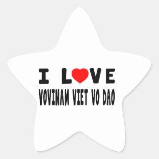 I Love Vovinam Viet vo Dao Martial Arts Stickers