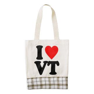 I LOVE VT ZAZZLE HEART TOTE BAG