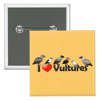 I Love Vultures (Africa) 2 Inch Square Button
