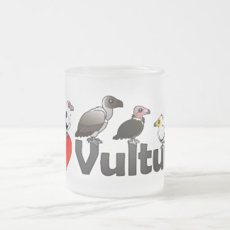 I Love Vultures (Africa) Frosted Glass Coffee Mug
