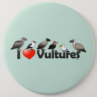 I Love Vultures (Africa) Pinback Button