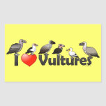 I Love Vultures (Africa) Rectangle Stickers
