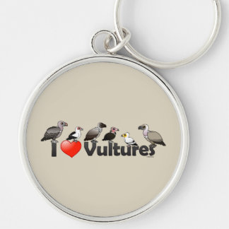 I Love Vultures (Africa) Silver-Colored Round Keychain