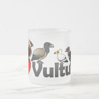 I Love Vultures (Eurasia) Frosted Glass Coffee Mug