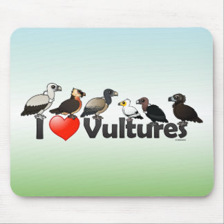 I Love Vultures (Eurasia) Mouse Pad
