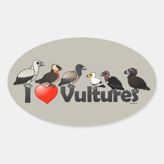 I Love Vultures (Eurasia) Oval Sticker
