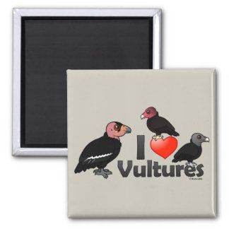 I Love Vultures (North America) 2 Inch Square Magnet