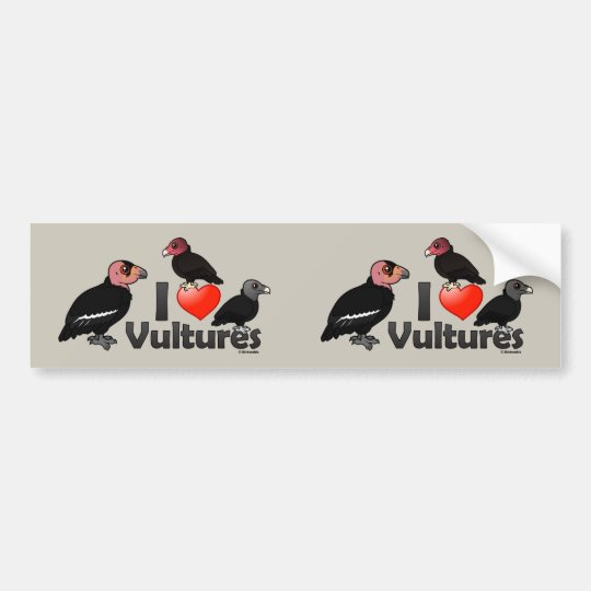 I Love Vultures (North America) Bumper Sticker