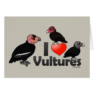 I Love Vultures (North America) Card