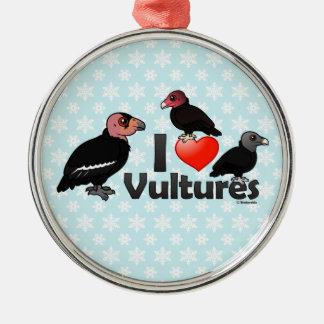 I Love Vultures (North America) Metal Ornament