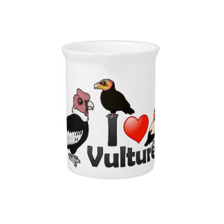 I Love Vultures (South America) Beverage Pitcher
