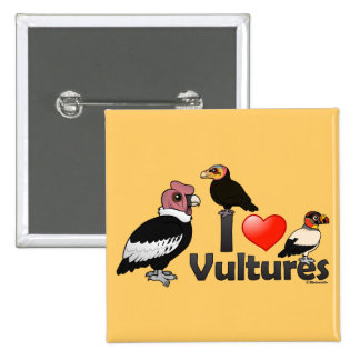 I Love Vultures (South America) Pinback Button