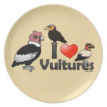 I Love Vultures (South America) Plates