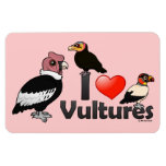 I Love Vultures (South America) Rectangular Magnets