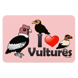 I Love Vultures (South America) Rectangular Photo Magnet
