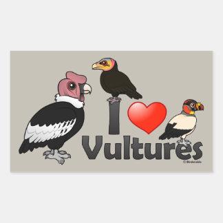 I Love Vultures (South America) Rectangular Sticker