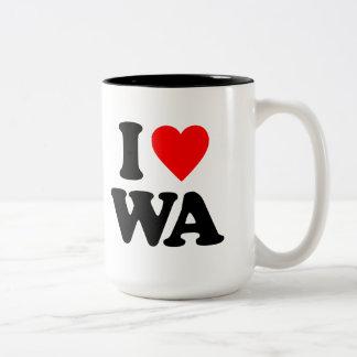 I LOVE WA Two-Tone COFFEE MUG