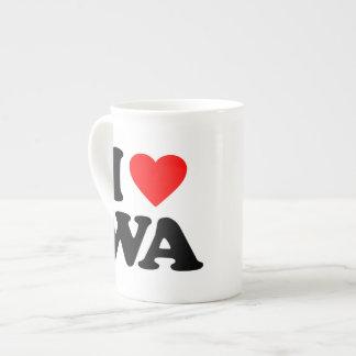 I LOVE WA TEA CUP