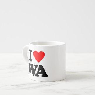 I LOVE WA 6 OZ CERAMIC ESPRESSO CUP