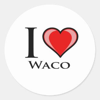 I Love Waco Classic Round Sticker