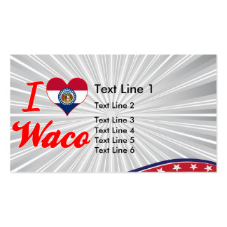I Love Waco, Missouri Double-Sided Standard Business Cards (Pack Of 100)