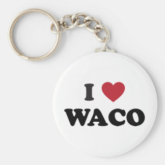 I Love Waco Texas Basic Round Button Keychain