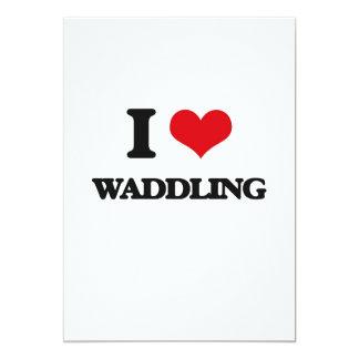 I love Waddling 5x7 Paper Invitation Card