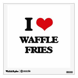 I love Waffle Fries Wall Graphics