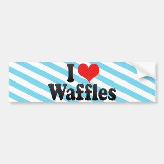 I Love Waffles Car Bumper Sticker
