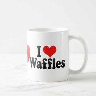 I Love Waffles Classic White Coffee Mug