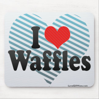 I Love Waffles Mouse Pads