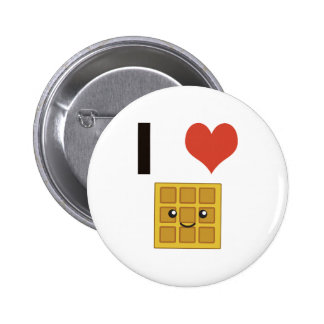I love Waffles Pinback Button