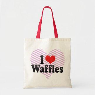 I Love Waffles Tote Bags