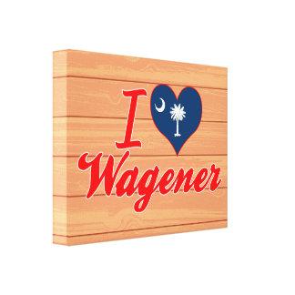 I Love Wagener, South Carolina Stretched Canvas Print