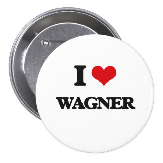I Love Wagner 3 Inch Round Button
