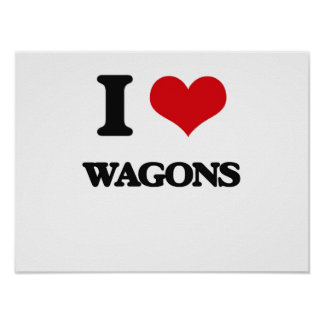 I love Wagons Poster