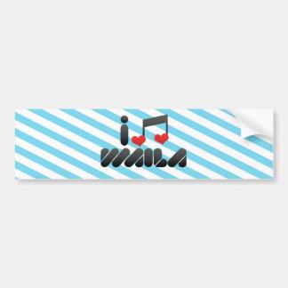 I Love Waila Bumper Stickers
