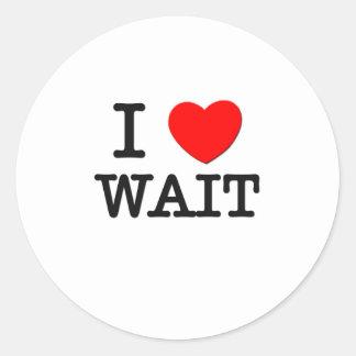 I Love Wait Stickers