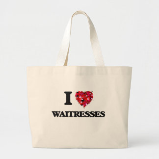 I love Waitresses Jumbo Tote Bag