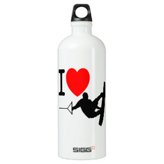 I LOVE WAKEBOARDING ALUMINUM WATER BOTTLE
