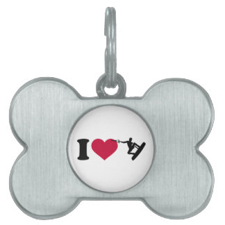 I love Wakeboarding Pet ID Tag