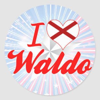 I Love Waldo, Alabama Round Sticker