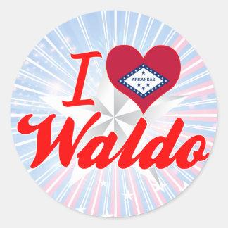 I Love Waldo, Arkansas Round Sticker