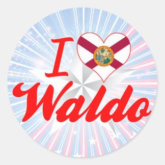 I Love Waldo, Florida Round Sticker