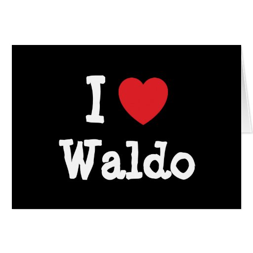 I love Waldo heart custom personalized Card