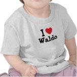I love Waldo heart custom personalized T-shirts
