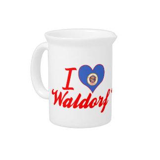 I Love Waldorf Minnesota Drink Pitcher