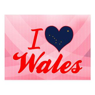 I Love Wales, Alaska Post Card